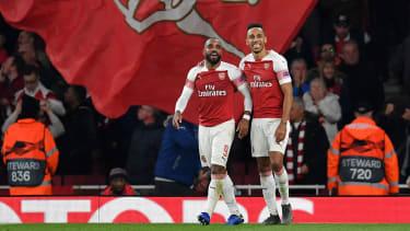 Arsenal strikers Alexandre Lacazette and Pierre-Emerick Aubameyang