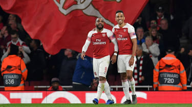 Arsenal strikers Alexandre Lacazette and Pierre-Emerick Aubameyang