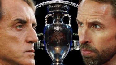 Italy head coach Roberto Mancini and England boss Gareth Southgate