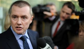 Chief Executive of British Airways, Willie Walsh, addresses the media as he leaves Acas following talks with the Unite Union in London, on May 17, 2010. Britain's conciliation service Acas sa