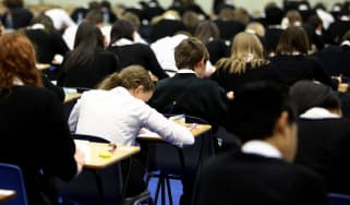 Pupils sit exams