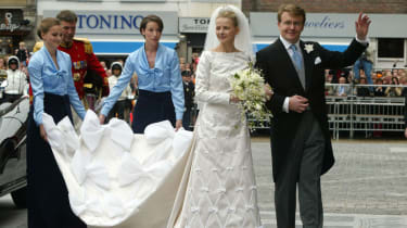 Prince Friso, the second son of Queen Beatrix of the Netherlands, with his bride-to-be Mabel Wisse SMIT