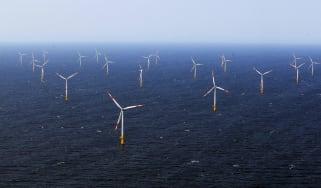 A wind farm in the Baltic Sea