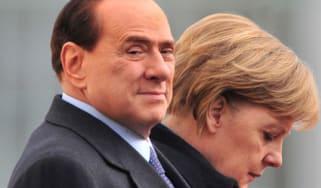 Silvio Berlusconi Angela Merkel