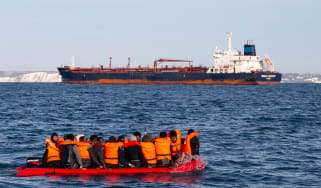 Migrants crossing the Channel from France to England