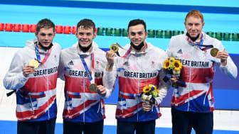 Duncan Scott, Matthew Richards, James Guy and Tom Dean
