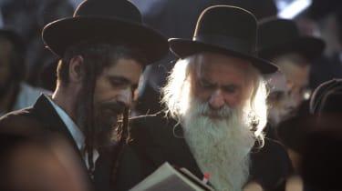 Ultra orthodox Jews pray at the tomb of Reb Nachman of Breslov, founder of the Breslov Hasidic movement