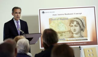 Governor of the Bank of England, Mark Carney, introduces the new ten pound note