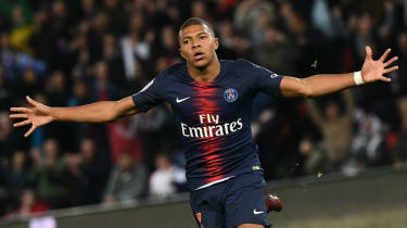 Kylian Mbappe PSG four goals Lyon