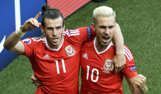 Wales footballers Gareth Bale and Aaron Ramsey