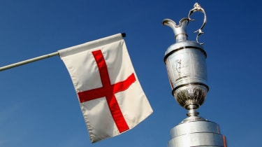 The Open's Claret Jug pictured at Royal St George's in Sandwich, Kent