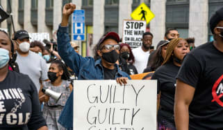 A march through Minneapolis after the guilty verdict