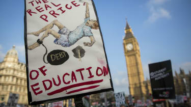 Tuition fee protest