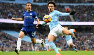 Leroy Sane Manchester City Chelsea Premier League