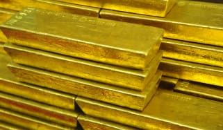 Gold bars in the Czech central bank
