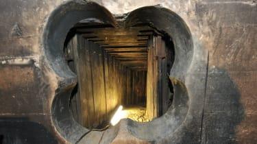 An tunnel used in a bank heist in Berlin in 2013