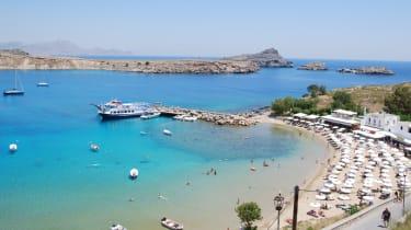 The Greek island of Rhodes is a popular tourist destination in autumn