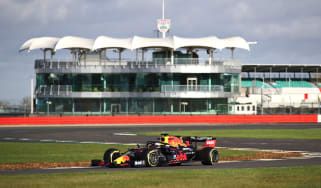 Max Verstappen drove the Red Bull Racing RB16 at Silverstone