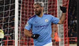 Sergio Aguero scored Manchester City's winning goal at Sheffield United