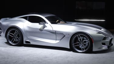 DETROIT, MI -The Fisker Force 1 sports car is revealed to the news media at the 2016 North American International Auto Show January 12th, 2016 in Detroit, Michigan. The body of the Force 1 is