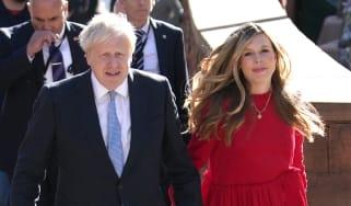 Boris and Carrie Johnson