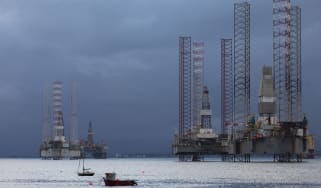 Oil rigs in Cromarty Firth June 10th 2019, Cromarty, Scotland, United Kingdom. The Cromarty Firth is used by oil rig companies for its shelter and close proximity to the North Sea and oil fie