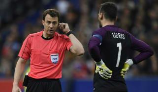 Felix Swayer refers to video referee VAR