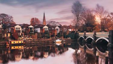 Old Bridge over the River Wey in Weybridge, Surrey