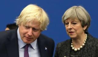 Boris Johnson and Theresa May at this year's Nato summit