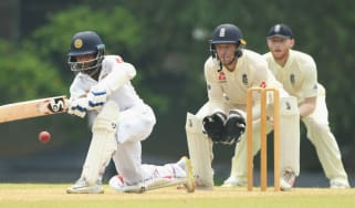 Jos Buttler kept wicket for England in the warm-up match against Sri Lanka in Colombo