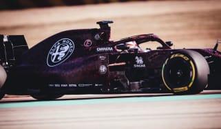 Kimi Raikkonen drove Alfa Romeo Racing's new 2019 F1 car in Fiorano, Italy