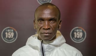 Kenyan athlete Eliud Kipchoge is the marathon world record holder