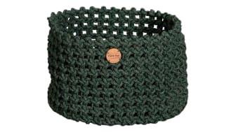 Cane-Line dark green soft rope basket