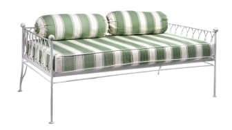 Palm Springs white metal day bed sofa