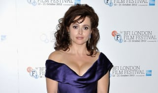 LONDON, ENGLAND - OCTOBER 20: Helena Bonham Carter poses with her BFI Fellowship award during the 56th BFI London Film Festival Awards at the Banqueting House on October 20, 2012 in London, E