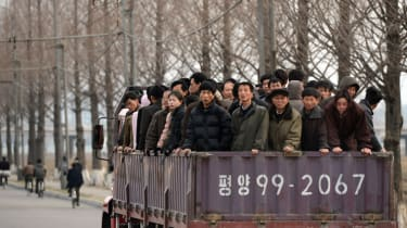 North Korean commuters