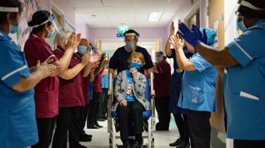 Margaret Keenan receives the first coronavirus vaccine