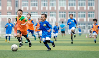 Chinese children take part in a training session in Beijing