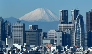 Tokyo's financial sector in the shadow of Mount Fuji
