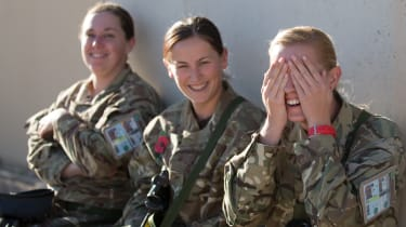 Female members of the 904 Expeditionary Air Wing in Kandahar, Afghanistan