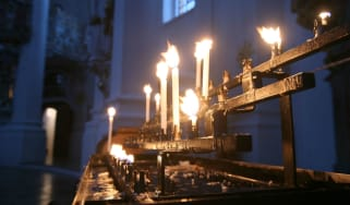 Advent candles church