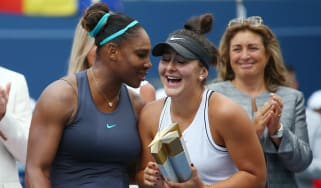 Bianca Andreescu won the Rogers Cup final in August after Serena Williams retired injured