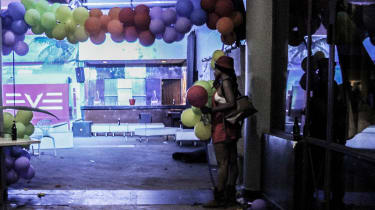 After the raid, the club was deserted