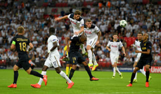 Toby Alderweireld of Spurs in action at Wembley