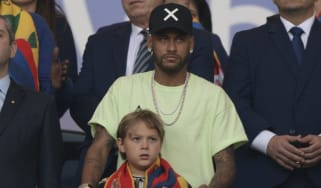 Neymar was in the stands watching Brazil beat Peru in the 2019 Copa America final