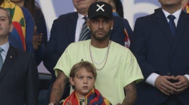 Neymar was in the stands watching Brazil beat Peru in the 2019 Copa America final