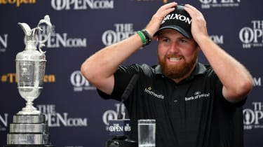 2019 Open champion Shane Lowry speaks to the press after his victory at Royal Portrush