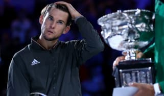 Dominic Thiem was beaten in the Australian Open men's final by Novak Djokovic