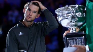 Dominic Thiem was beaten in the Australian Open men's final by Novak Djokovic
