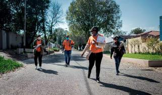 A door-to-door coronavirus testing team in Johannesburg, South Africa